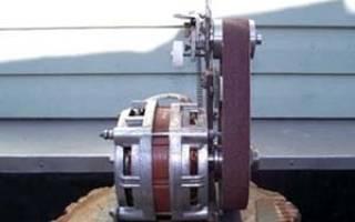 Шлифовальный станок из двигателя от стиральной машинки