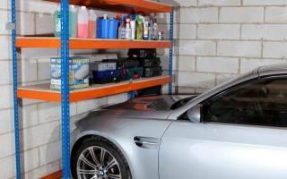 Как построить стеллажи в гараже?