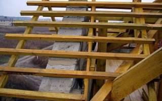Обрешетка под профнастил на крышу дома