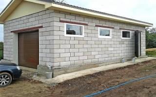 Как правильно построить гараж из пеноблоков?