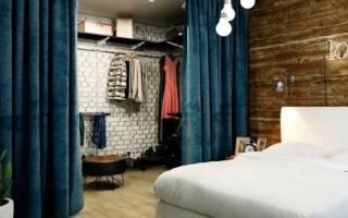 Как построить гардеробную в комнате?