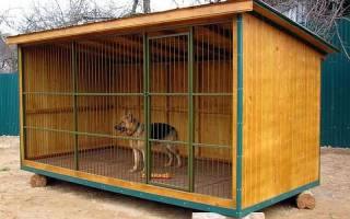 Как построить вольер для большой собаки?