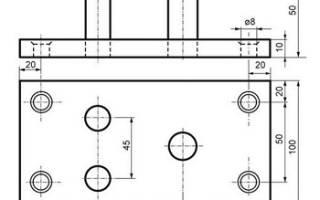 Приспособа для ручной гибки металлических прутков