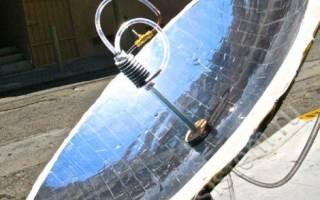 Солнечный концентратор, который плавит метал в домашних условиях