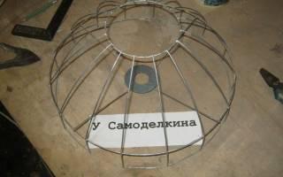 Металлический абажур для лампы своими руками