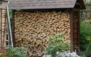 Как правильно построить дровяник?
