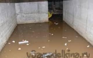Грунтовые воды в подвале что делать?