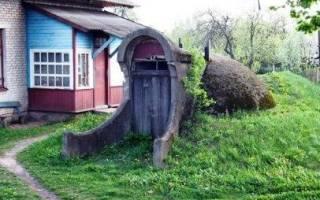 Как построить насыпной погреб?