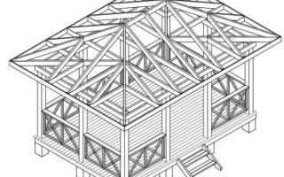 Как построить прямоугольную беседку?
