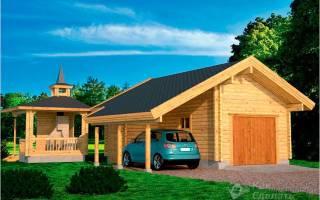 Как построить гараж из бревен?