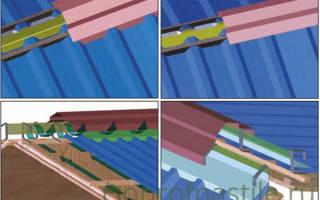 Устройство конька крыши из профнастила