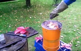 Плавильная мини печь из старого металлического ведра