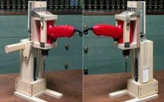 Как сделать настольный держатель для электродрели