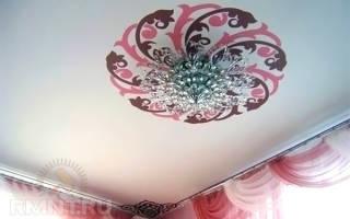 Потолок из ткани своими руками