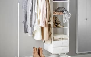 Красивая напольная вешалка для одежды