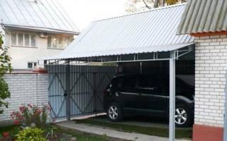 Как построить гараж из профильной трубы своими руками?