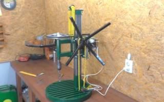 Сверлильный станок с двигателем от стиралки