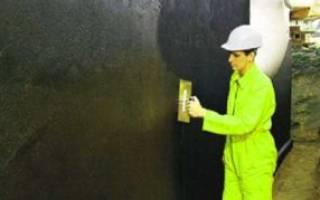 Нанесение гидроизоляции на фундамент