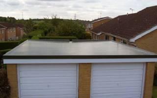 Профнастил на бетонную крышу гаража
