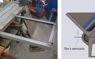 Приспособа для работы с листовым металлом