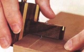 Простой рейсмус для разметки деревянных поверхностей