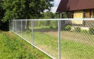 Как построить забор из рабицы?