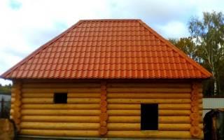 Крыша бани из металлочерепицы своими руками