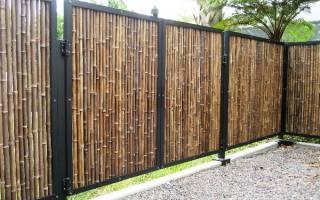 Забор из бамбука своими руками